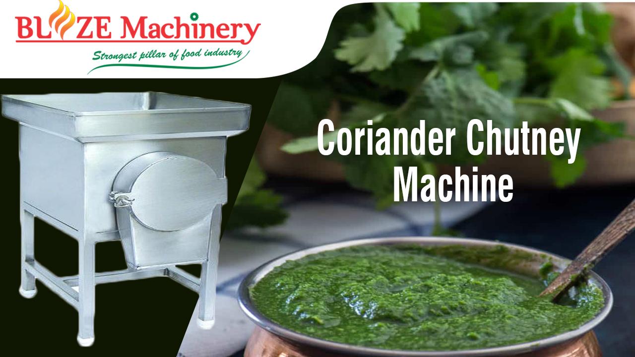 Coriander Chutney Making Machine