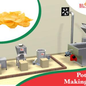 Potato Chips Making Plant / Machine
